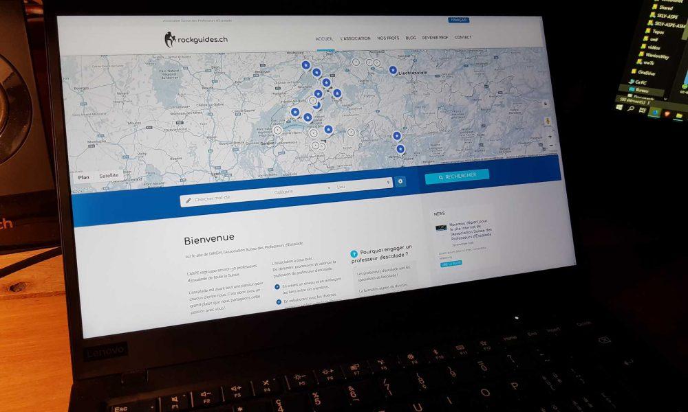 Nouveau départ pour le site internet de l'Association Suisse des Professeurs d'Escalade
